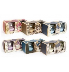 An assortment of 6 twin packs of scented candles each with two-tone coloured wax.