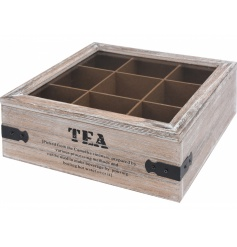 A vintage and stylish way to hold your tea necessities