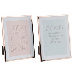 Stylish copper painted picture frames
