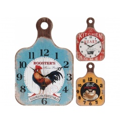 Quirky farmhouse styled wall clocks