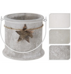 Frosted Mink Candle Pots  4 assorted designed frosted glass pots