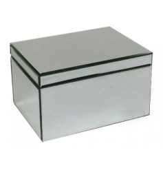 Stay organised with this glamorous mirrored jewellery box.