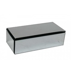 A stylish and glamorous mirror jewellery box with black lining.