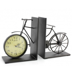 This vintage bike styled book ends are a great way to bring a retro feel to any book shelf