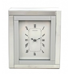 A fine quality white and mirror glass clock. A stunning feature for the home and a gift item to be treasured.