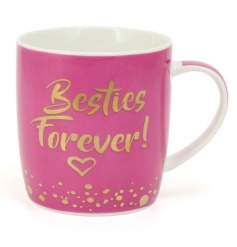 Besties Forever! A pretty and colourful slogan gift mug for your special friend.
