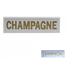 A fabulous LED sign reading CHAMPAGNE. A lovely gift item and light up home decoration.