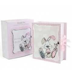 A beautiful keepsake box for precious little girls. A lovely gift item, perfect for saving those 'first' memories.