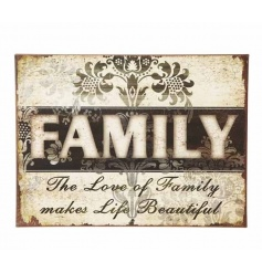 Add a dark vintage theme to any room with this stylish rustic metal sign