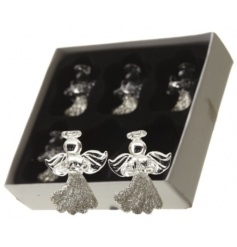 This pack of 6 beautifully glittered hanging glass angels will add a touch of delicacy to your tree this year