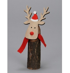 A quirky and original reindeer decoration with that much loved handmade feel.