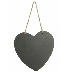 Fall in love with this classic heart shaped chalkboard with jute rope hanger. Ideal for handy messages