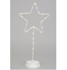 A chic white star decoration with LED lights. Ideal for special occasions and home decoration.
