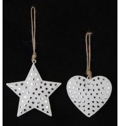 These two assorted hanging decorations are perfect christmas decor accessories,