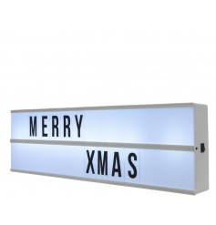 A must have!! Snap up this on trend LED light box with individual letters.