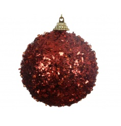 A traditional red bauble with a glitter sequin finish. An attractive, great value decoration this season.