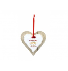 A festive and fabulous double heart plaque reading I'm dreaming of a wine Christmas. Complete with red ribbon and bells.