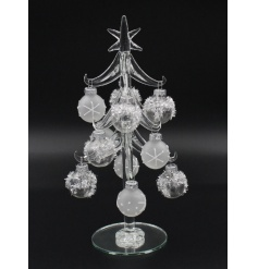 A must have this season. This multi frosted bauble tree is a chic accessory to display around the home.