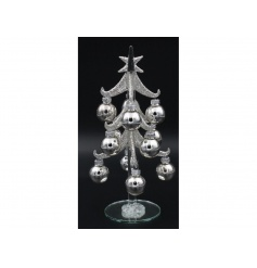 A stylish silver bell bauble tree. A must have decoration for the home this season.