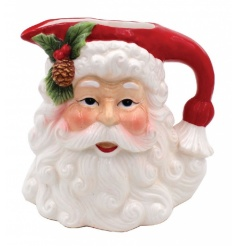 A vintage style ceramic jug in a Santa design. A must have for your festive table this season.