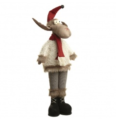Add a bit of woodland fun to your home with this friendly free standing fabric moose.
