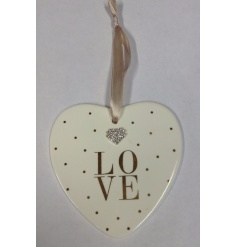 Beautiful heart plaque from the Mad Dots Range.