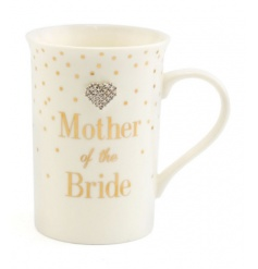 A lovely gift for the Mother of the Bride. A fine quality mug from the popular Mad Dots range.