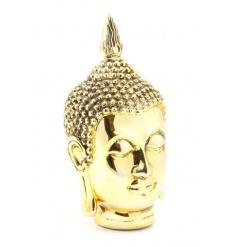 A large and stylish Gold paint coated Buddha Head.