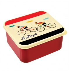 A stylish and practical plastic lunch box with a handy push on lid from the popular Le Bicycle range