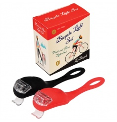 A set of 2 LED lights with gift box from the super cool Le Bicycle range.
