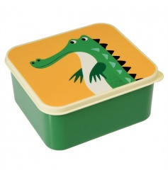 This cute crocodile lunch box is sure to be loved by kids. Part of the Colourful Creatures range