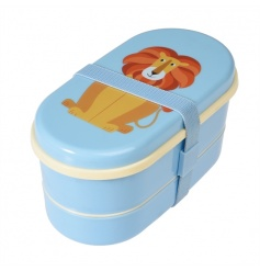 This cute two tier Lion design bento box from the Colourful Creatures range is fabulous for lunch on the go.