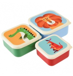 This set of 3 nesting snack boxes from the Colourful Creatures range are perfect for snacks and packed lunch treats!