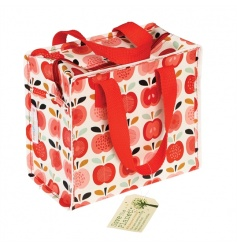 A stylish Charlotte lunch bag in the popular Vintage Apple design. Made from recycled plastic bottles.