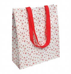 A pretty and practical La petite rose design super shopper bag, made from recycled plastic bottles.