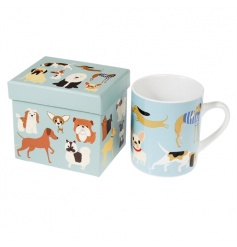 A fabulous best in show mug with various dog breeds. Comes with a matching gift box.