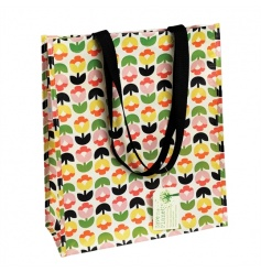 A stylish and practical shopper made from recycled plastic bottles. Complete with strong nylon handles.