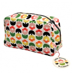 A gorgeous wash bag for storing your essential toiletries. Made from oilcloth and with an inner pouch to keep you organi