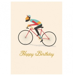 Say Happy Birthday with this stylish Le Bicycle 'Happy Birthday' debossed card with envelope. Left blank inside