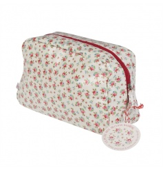 A gorgeous wash bag for storing your essential toiletries. Made from oilcloth and with an inner pouch to stay organised
