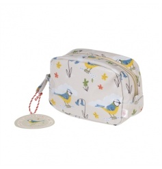 A pretty and practical make up bag in the bright and beautiful Blue Tit design. Made from oilcloth