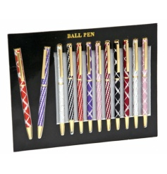 12 Assorted pens with counter display