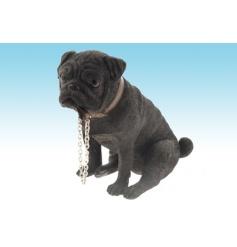 Resin dog figurine from The Leonardo Collection Walkies range. Height 16cm