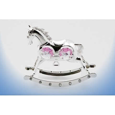 Rocking Horse Pink Silver Plate