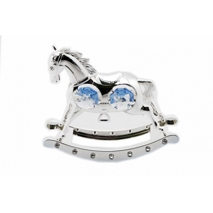 Rocking Horse Blue Silver Plate