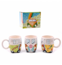 New Camper Van design mug. Made from ceramics, finished in a high gloss glaze.