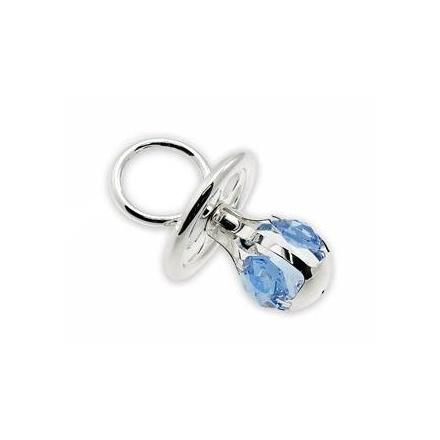 Silver Plate Crystal Dummy Blue