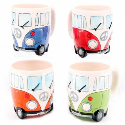 Camper Van Boxed Mugs 4 Asstd